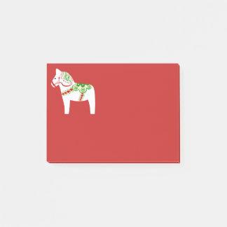 Bloco Post-it Notas de post-it brancas do cavalo de Dala