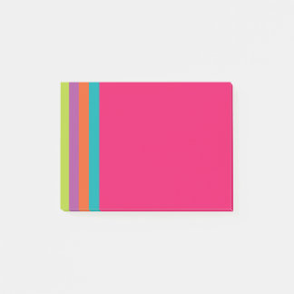 Bloco Post-it Notas de post-it brilhantes das listras