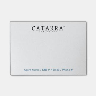 Bloco Post-it Notas de post-it de Catarra com informação do