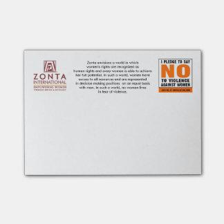 Bloco Post-it Notas de post-it de Zonta