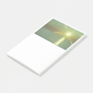 Bloco Post-it Notas de post-it do oceano do por do sol, 4 x 6