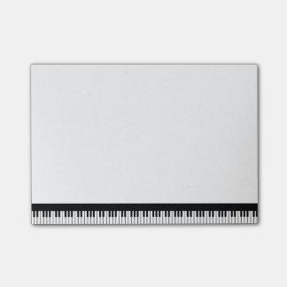 Bloco Post-it Notas de post-it do teclado de piano