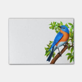 Bloco Post-it Notas de post-it orientais da arte do Bluebird