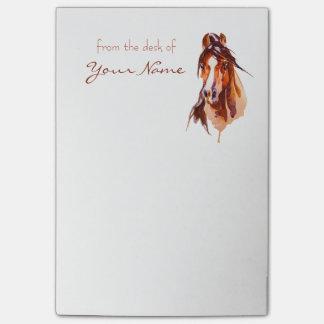 Bloco Post-it Notas de post-it personalizadas da arte do cavalo