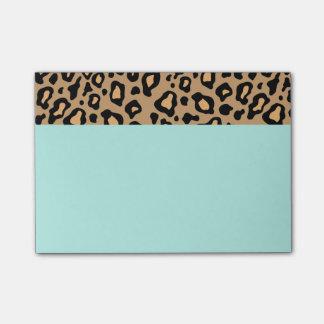 Bloco Post-it Notas de post-it retros do impressão do leopardo