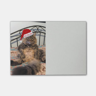 Bloco Post-it Notas do gato do papai noel