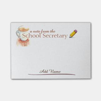 Bloco Post-it Notas do secretário post-it da escola