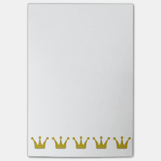 Bloco Post-it O ouro coroa a beira + suas ideias
