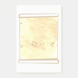 Bloco Post-it O planejador Pastel do rolo da aguarela do Sepia