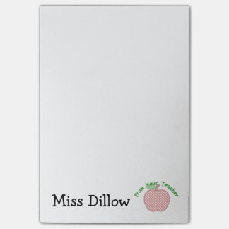 Bloco Post-it O post-it de Apple do professor 4x6 personalizado