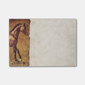 Bloco Post-it O Sepia tonificou a arte rústica do cavalo