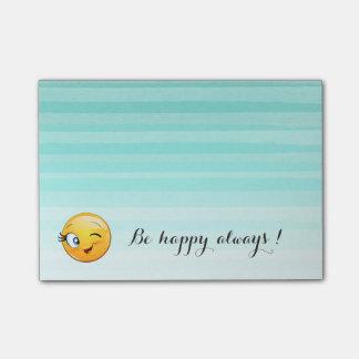 Bloco Post-it O smiley pisc adorável Emoji Cara-Está feliz
