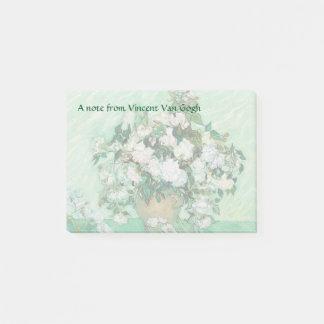 Bloco Post-it O vaso de Van Gogh com vintage cor-de-rosa dos