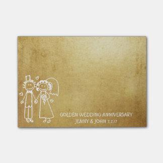 Bloco Post-it Obrigado do aniversário de casamento você ouro