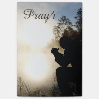 Bloco Post-it Oração Pray4 cristã (use para possuir a foto)