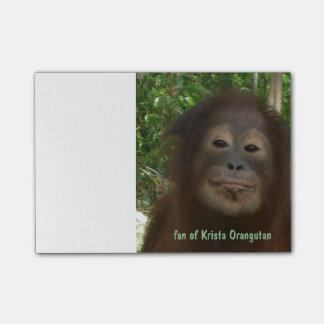 Bloco Post-it Orangotango de Krista