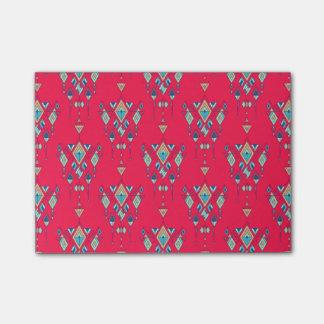 Bloco Post-it Ornamento asteca tribal étnico do vintage