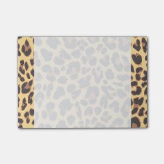 Bloco Post-it Padrões da pele animal do impressão do leopardo