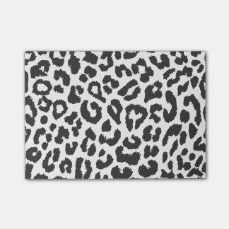 Bloco Post-it Padrões pretos & brancos da pele animal do
