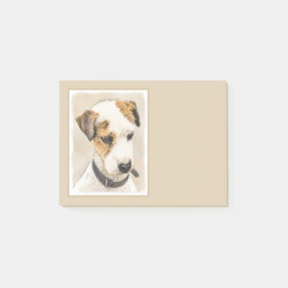 Bloco Post-it Parson Jack Russell Terrier que pinta uma arte de