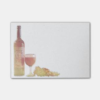 Bloco Post-it Pastel de canto do vinho