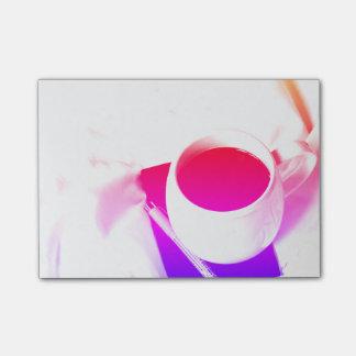 Bloco Post-it Pequeno almoço do chá do arco-íris no copo de café