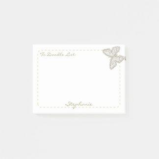 "Bloco Post-it Personalize ""para doodle a borboleta da arte do"