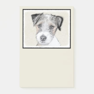 Bloco Post-it Pintura áspera de Russell Terrier - arte original