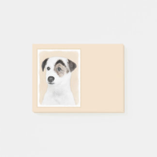 Bloco Post-it Pintura de Jack Russell Terrier do Parson - arte
