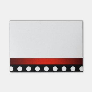Bloco Post-it Pique notas vermelhas do Cargo-it® da beira do