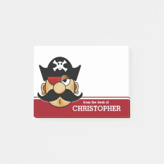 Bloco Post-it Pirata do bigode personalizado