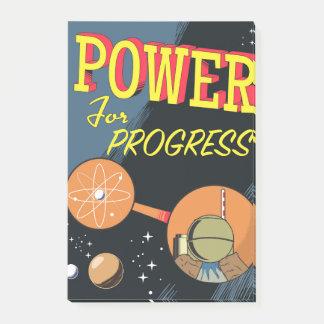 Bloco Post-it Poder para o poster atômico do vintage do