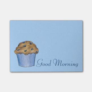 Bloco Post-it Post-it do muffin de blueberry do pequeno almoço