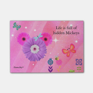 Bloco Post-it POST-IT ESCONDIDO da flor do primavera de MICKEY