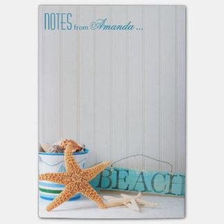 Bloco Post-it Praia da estrela do mar personalizada