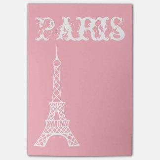 Bloco Post-it Presente cor-de-rosa das notas de post-it da Paris