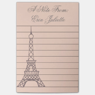 Bloco Post-it Presente da torre Eiffel da nota de post-it da