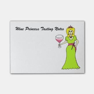 Bloco Post-it Princesa Provando Nota do vinho