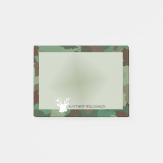 Bloco Post-it Quadro verde personalizado de Camo com silhueta do