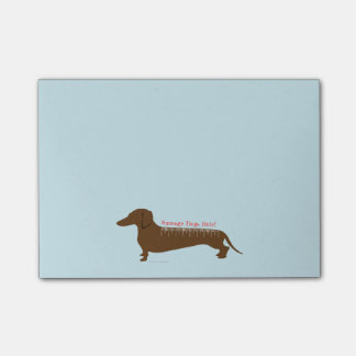 Bloco Post-it Regra dos cães de salsicha