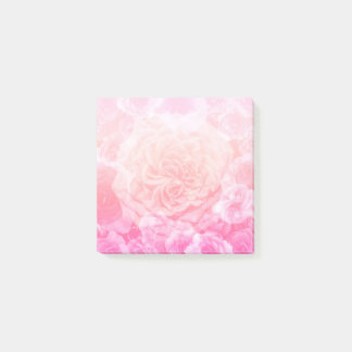 Bloco Post-it Rosa Pastel Ombre floral