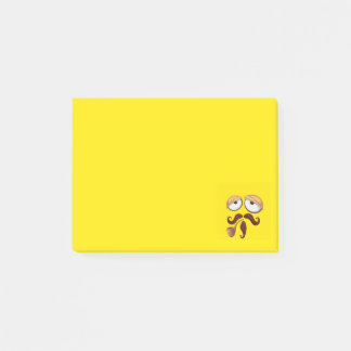 Bloco Post-it Smiley amarelo de grito de FaceFancy do smiley