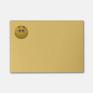 Bloco Post-it smiley do estilo 3d