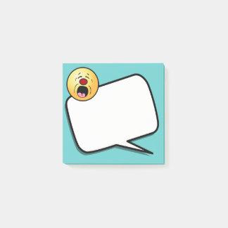 Bloco Post-it Smiley face de lamentação Grumpey