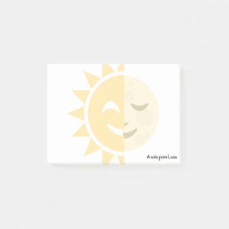 Bloco Post-it Sun feito sob encomenda e lua