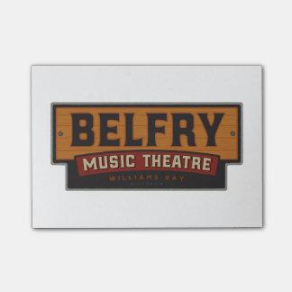 Bloco Post-it Teatro da música da torre de sino - notas de