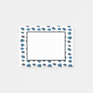 Bloco Post-it Teste padrão azul do divertimento do pingo de
