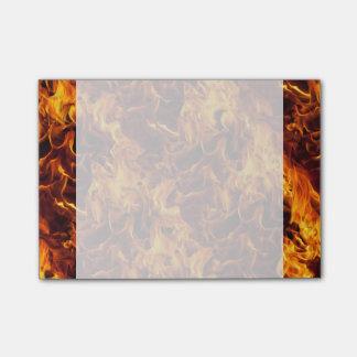 Bloco Post-it Teste padrão do fogo e da chama