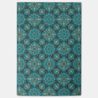 Bloco Post-it Teste padrão floral étnico abstrato colorido de da