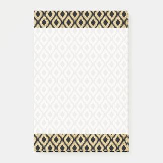 Bloco Post-it Teste padrão tribal do brilho preto elegante do